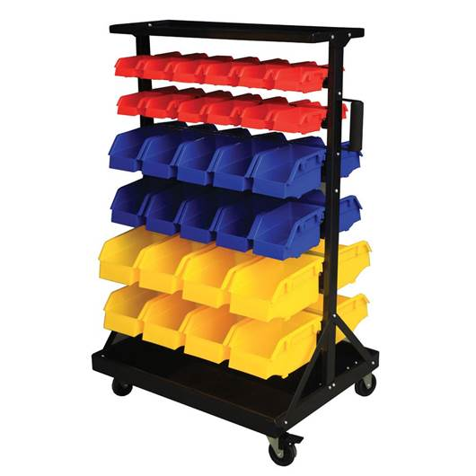 Picture of Bin Trolleys with Polypropylene Bins