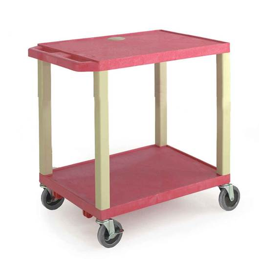 Picture of Plastic Trolleys with Coloured Shelves