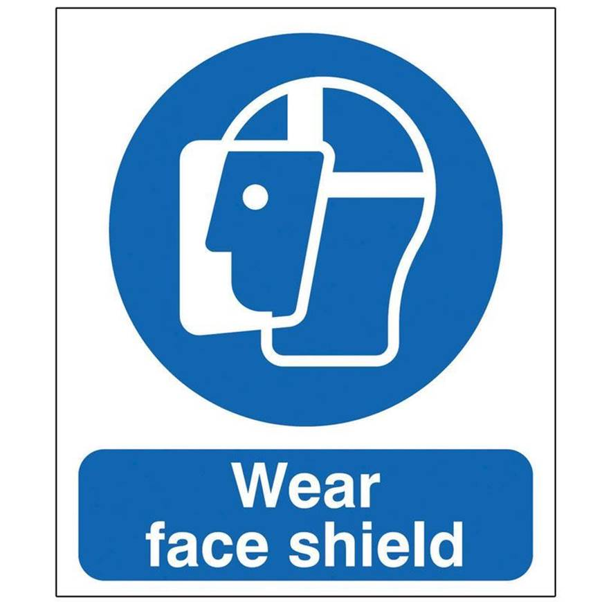 Picture of Wear Face Shield Sign