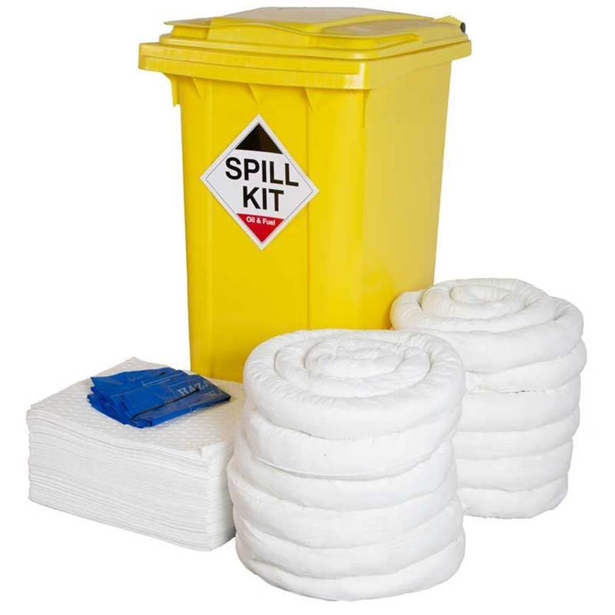 Picture of Workshop Spill Kit with Wheeled Bin